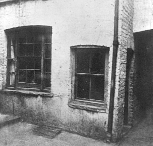 Mary Jane Kelly's room in Miller's Court, picture taken the morning after her death