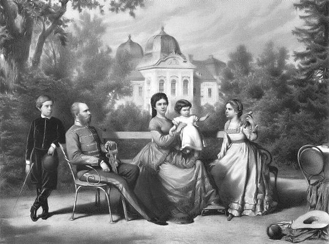 The Imperial Family in Gödöllö, Hungary, around 1870