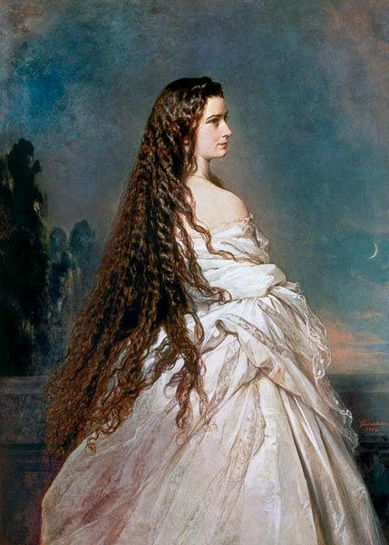 Empress Elisabeth, painting by Winterhalter, 1865.