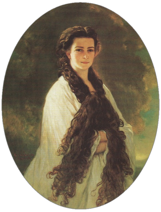 This second portrait of the Empress by Winterhalter was the Emperor's favourite and is opposite his desk.